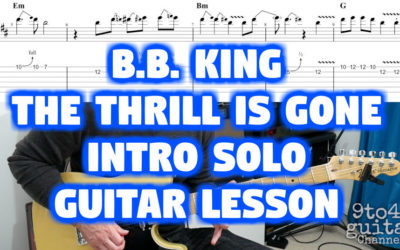 The Thrill is Gone B.B. King Intro Solo