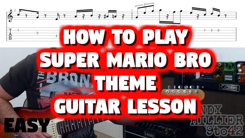 Super Mario Bros Theme TAB