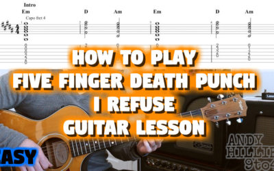 Five Finger Death Punch – I Refuse Guitar Tutorial