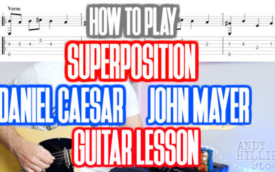 How to play Daniel Caesar – Superposition Guitar Lesson (ft. john mayer)