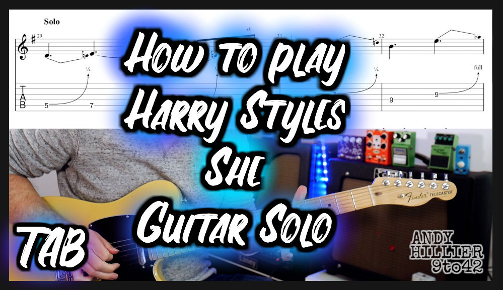Harry Styles She Guitar Solo TAB