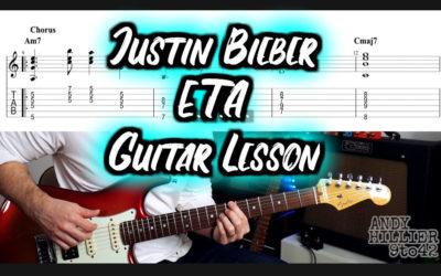 Justin Bieber E.T.A. Guitar TAB