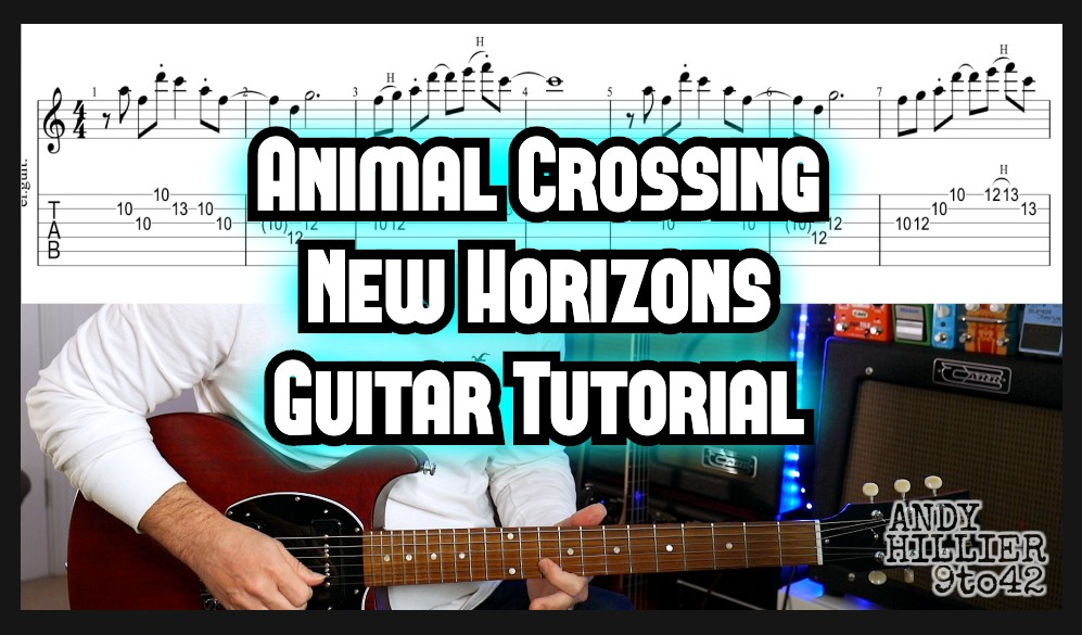 Main Theme Animal Crossing New Horizons Guitar Tutorial