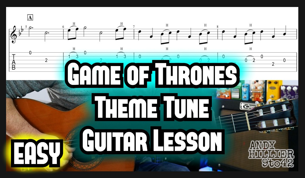 Game of Thrones Theme Guitar TAB