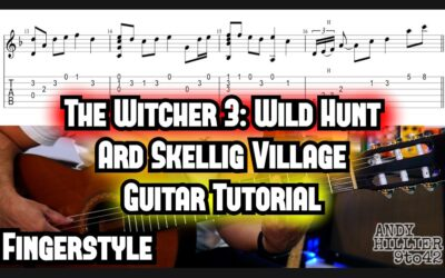 The Witcher 3: Wild Hunt Ard Skellig Village Guitar TAB